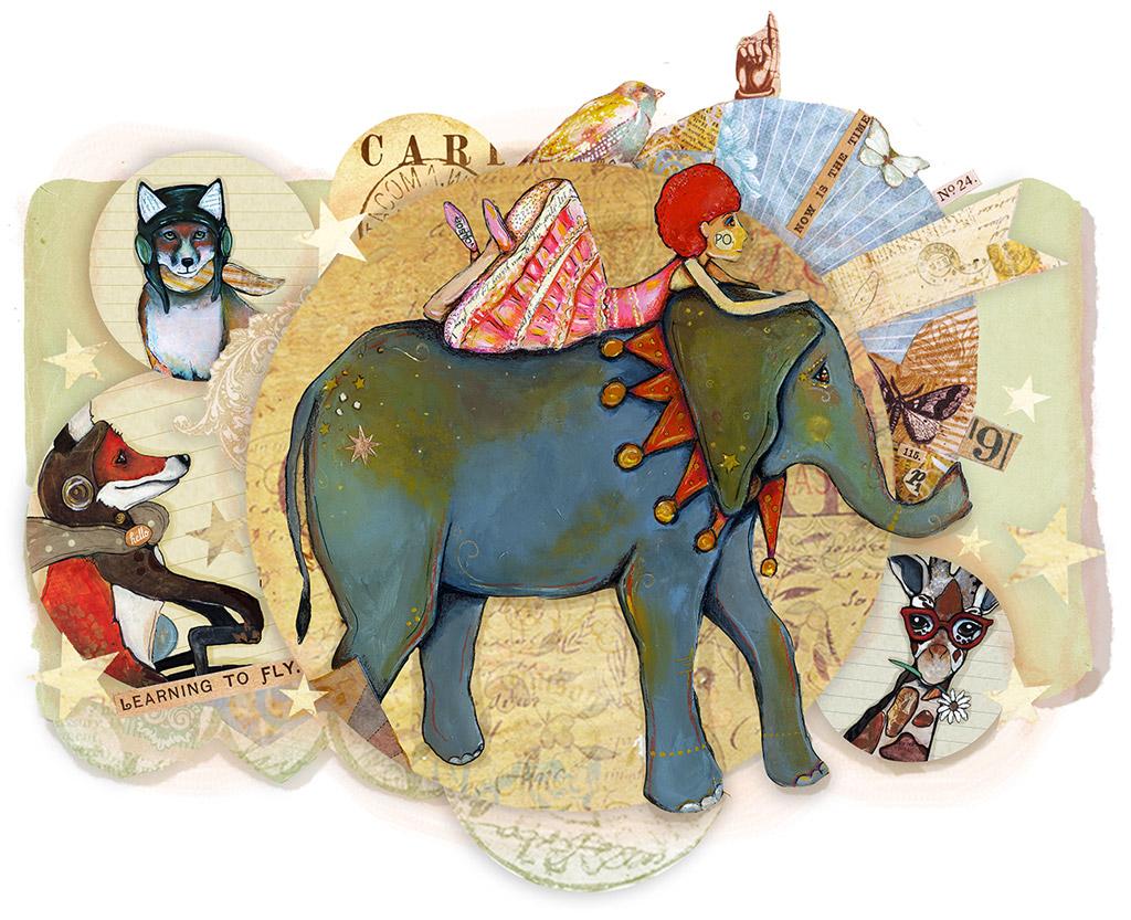 mixed-media-elephant